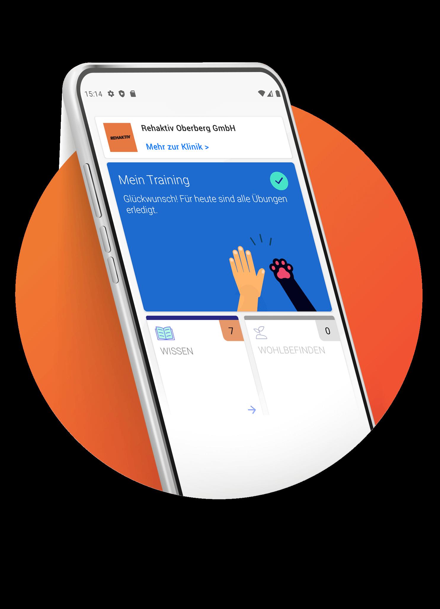 Die Rehaktiv App in einem Bild