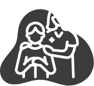 Diese Abbildung zeigt eine Krankenschwester mit Patient