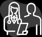 Diese Abbildung zeigt Ärtzin mit Klembrett