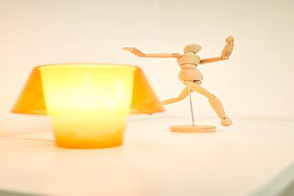 Puppe mit Licht